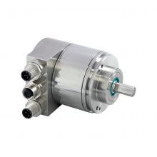 Absolute encoder with solid shaft