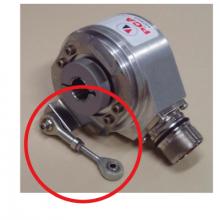 Torsion arm for hollow shaft encoder