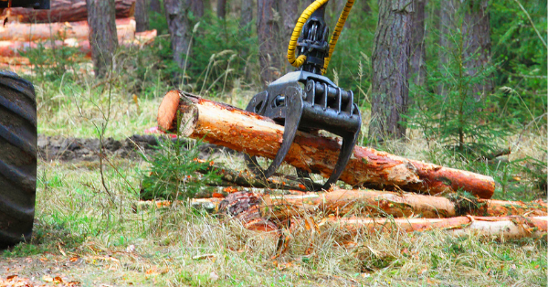 POSITAL ENCODERS FITTED TO LOGGING HARVESTER HEADS